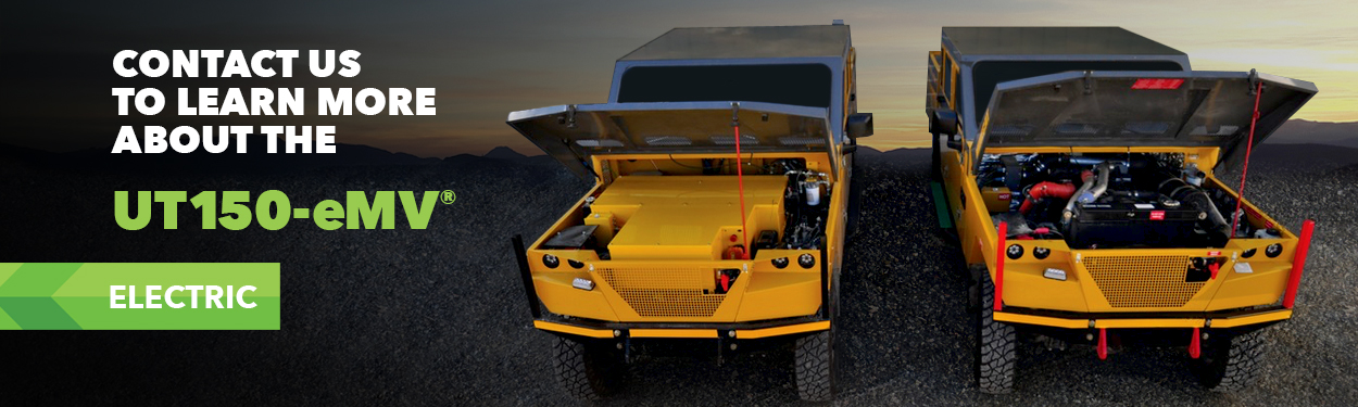 MINECAT Diesel UT99 and Electric UT150-eMV Utility Mining Vehicles