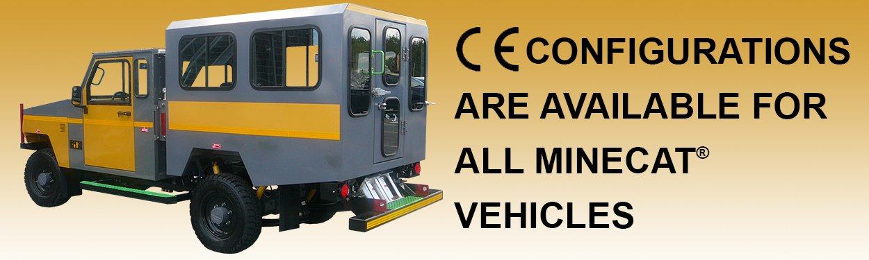 CE Configurations for MINECAT Utility Vehicles
